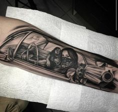 ★☆ World of Tattoo ☆★ Ink by Iva Chavez; Car Tattoos, Dope Tattoos, Badass Tattoos, Body Art Tattoos, Tattoos For Guys, Sleeve Tattoos, Mini Tattoos, Gangster Tattoos, Chicano Tattoos Gangsters