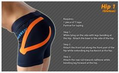 Kinesiology taping instructions for the hip #ktape #ares #hip