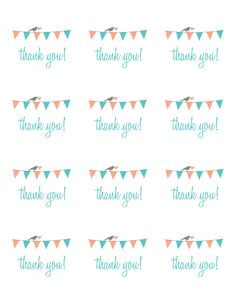 Thank You Stickers; ready to print on Avery 2.5″ Round label sheets
