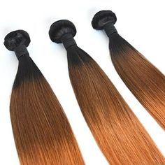 Dropshipping top quality 3 tone hair bundle 1b/4/30ombre hair weft silky straight blonde virgin Brazilian