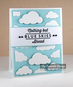 Blue Skies Ahead, Cloud Cover-Up Die-namics - Michele Boyer #mftstamps