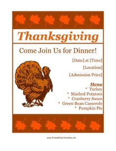 1000 images about thanksgiving on pinterest menu template restaurant menu template and. Black Bedroom Furniture Sets. Home Design Ideas