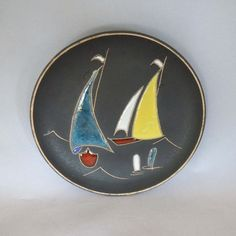 Vintage 1960s West German Ruscha pottery fat by AtomicDimestore, $30.00