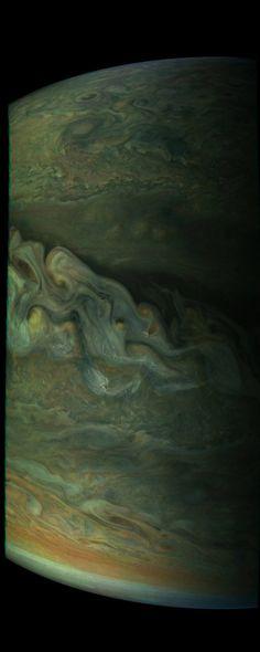 Jupiter's Great Polar Spot from Juno.  Credit: NASA's Juno Mission to Jupiter