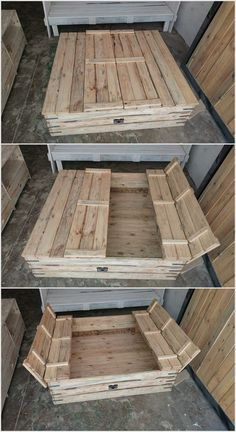 Wood Pallet Sandbox for Kids