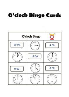 O'clock Bingo