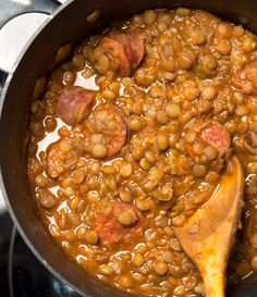 Lentil stew - What's on the Plate Healthy Food Blogs, Good Healthy Recipes, Unique Recipes, Ethnic Recipes, Lentil Stew, Chana Masala, Soups And Stews, Lentils, Food For Thought