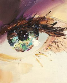 I love eyes and this is absolutely captivating. (Ukrainian artist Pavel Guzenko manages to capture the glimmering gaze of the human eye with his impressionist technique. Each shimmering orb depicts a remarkable reflective surface, truly capturing the sparkle in one's eye.)