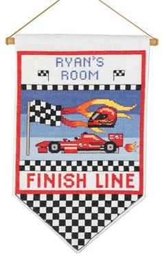 Race Car Room Banner