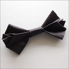 Origami Butterfly Silk Bow Tie (Black) $175.72