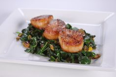 """Winter Scallops - Michael Symon  """"two types of wine, a lovely French crisp Chablis and a Alto Adige Pinot Grigio. Both complimented quite nicely."""""""