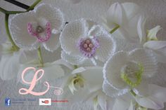 Video tutorial and schemes with english subtitles. How to crochet orchid, tunisian crochet.
