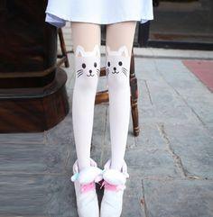 Imagem de asian, knee socks, and blue
