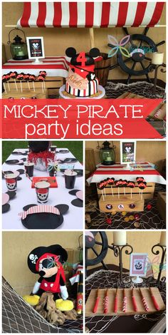 Pirate Decoration Ideas Inspirational This Pirate Mickey Mouse Birthday Party Has Amazing Pirate Birthday, Mickey Mouse Birthday, Pirate Theme, 2nd Birthday Parties, 4th Birthday, Birthday Ideas, Mickey Mouse Decorations, Mickey Mouse Parties, Mickey Y Minnie