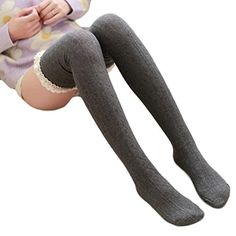 Morecome Women Over Knee Leg Warme Soft Knitting Crochet Sock Winter Legging Dark Grey -- For more information, visit image link.Note:It is affiliate link to Amazon.
