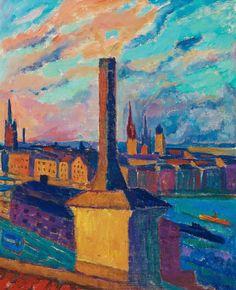 Maj Bring - Utsikt mot Gamla Stan, 1920