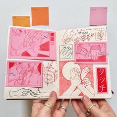 Poppy Crew on Instag Kunstjournal Inspiration, Sketchbook Inspiration, Sketchbook Ideas, Art And Illustration, Arte Sketchbook, Moleskine Sketchbook, Sketchbooks, Fashion Sketchbook, Art Sketches