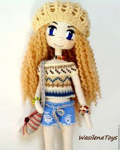 Санни куколка вязаная крючком – купить в интернет-магазине на Ярмарке Мастеров с доставкой