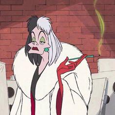 Cruella Deville, Best Picture For Disneyland los angeles. Cartoon Icons, Cartoon Memes, Cartoon Art, Cartoon Characters, Food Cartoon, Cartoon Drawings, Art Disney, Disney Kunst, Disney Movies