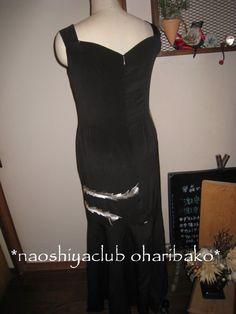ハンドメイド 黒留め袖 ゴージャスなドレスに