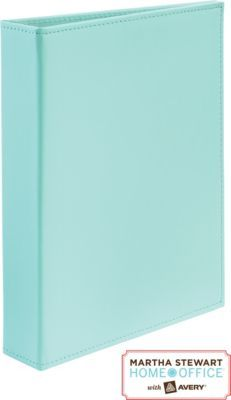 Martha Stewart Home Office™ With Avery™ Smooth-Finish Small-Format Binder, 1 Gap Free Rings, Blue