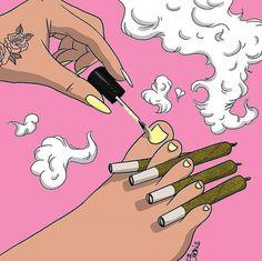 painting toenails with blunts between your toes Arte Dope, Dope Art, Foto Cartoon, Cartoon Art, Black Girl Art, Art Girl, Trill Art, Marijuana Art, Stoner Art