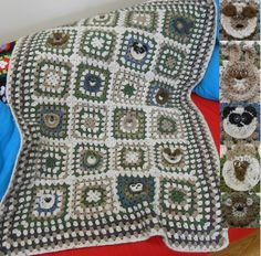 Animal Blanket - Granny Squares with a twist Granny Squares, Beautiful Crochet, Crochet Baby, Sheep, Blanket, Animal, Blankets, Animals, Carpet