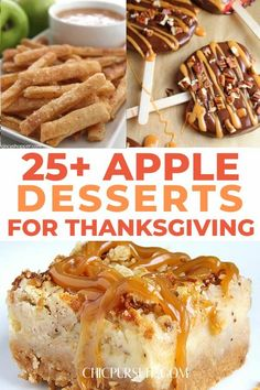 25 Best Apple Desserts Perfect For Thanksgiving Best Apple Desserts, Apple Recipes Easy, Apple Dessert Recipes, Fall Recipes, Holiday Recipes, Baking Recipes, Yummy Recipes, Thanksgiving Desserts, Autumn