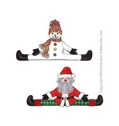 Kwik Sew 3279 Snowman and Santa Draft Stoppers by ucanmakethis