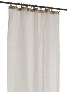 Voile de lin BRISE Ivoire En fil d'indienne_112,50€ Bed Curtains, Ivoire, Shower, Styles, Desi, Exterior, House Decorations, Closet Rod, Rain Shower Heads