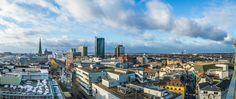 Handpanorama City Dortmund, der Balkon der Reinoldikirche bietet diese Aussicht!  #Dortmund #Panorama