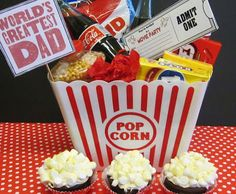 Fathers Day Movie Party Bucket! Homespun With Love