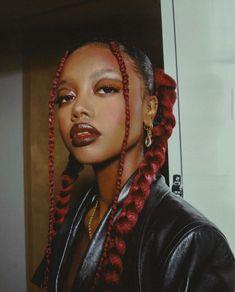 Black Girl Aesthetic, Aesthetic Hair, Aesthetic Makeup, Beauty Makeup, Hair Makeup, Hair Beauty, Eye Makeup, Black Girls Hairstyles, Cute Hairstyles