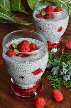 Healthy Deserts, Healthy Drinks, Healthy Eating, Raw Vegan Recipes, Vegan Food, Chia Pudding, Fruit And Veg, Cocktail Recipes, Cocktails