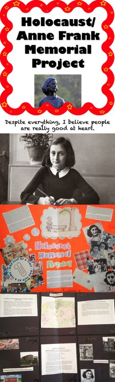 """Holocaust / Diary of Anne Frank Project Memorial - This is a project that is used after reading the Diary of Anne Frank play as a class and viewing the documentary """"Paper Clips."""""""