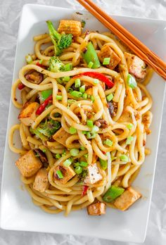 Tofu Drunken Noodles - Jo Cooks (I'd go with chicken or pork, therefore this is in Animal Protein!)