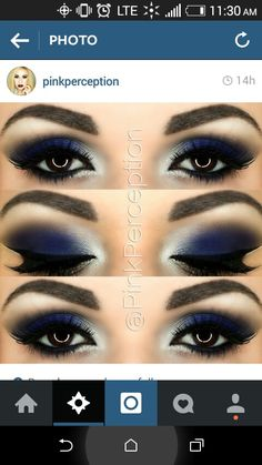 Royal Blue Smokey Eye Más