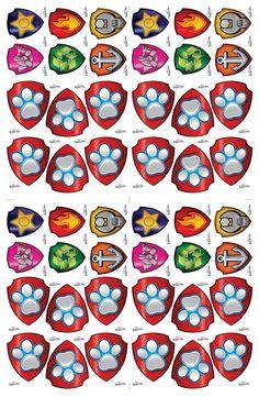 Miss Dorita: Insignias de la Patrulla Canina Paw Patrol Party, Paw Patrol Birthday, Imprimibles Paw Patrol, Minecraft Blocks, Cumple Paw Patrol, Ballon Decorations, Fiesta Party, Mask Party, Birthday Parties
