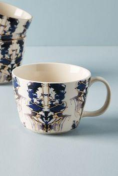Arianne Navy Gilded Abstract Mugs Set Porcelain Mugs, Ceramic Mugs, Anthropologie Clothing, Cream Walls, Ikat Pattern, French Beauty, Easy Crafts For Kids, White Quartz, Quartz Countertops