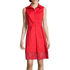 jcpenney.com | Liz Claiborne® Sleeveless Eyelet Shirtdress