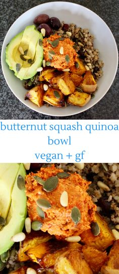 Butternut Squash Quinoa Bowl - super easy to make, and vegan and gluten-free.