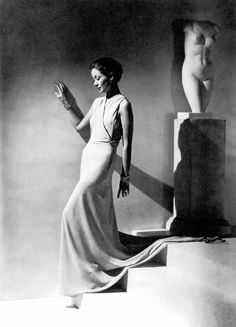 Toto Koopman in a 1934 fashion editorial by George Hoyningen-Huene for Vogue. Koopman was an Indonesian model who worked in Paris prior to WW II.