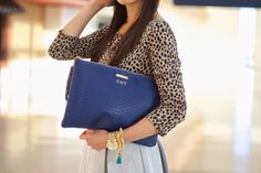 GiGi New York Uber clutch : Connie Tang Fashion Blog