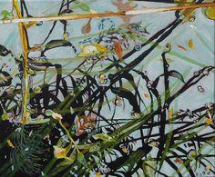 Kirsten Treis: poppelsdorfer weiher 2. Acryl auf Leinwand #Gemälde #Malerei #Acryl #Seerosen #Manet #Bonn #PoppelsdorferWeiher #poppelsdorf #Reflexion #Herbst #Teich #kirstentreis #startyourart www.startyourart.de