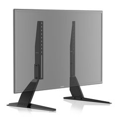 """Fitueyes Universal TV Stand/Base TV Table Top replacement table top TV stand legs for 23"""" to 42"""" LCD Flat Screen TVs height adjustable-TT04701MB"""