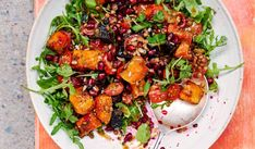 Rachel Ama's easy vegan recipe for Roast Beetroot and Butternut Squash with Tahini Dressing is the ultimate satisfying summer salad. Bursting with fresh, flavourful ingredients, this dish is a great one for a weekend lunch or light midweek dinner. Easy Salad Recipes, Roast Recipes, Vegan Recipes Easy, Tahini Dressing, Roasted Beets, Roasted Vegetables, Healthy Side Dishes, Side Dishes Easy, Crockpot