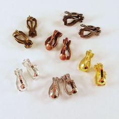 10 Ohrclips Öse 12x6mm silber gold bronze schwarz Clips Ohrklemme | Bacabella Perlen und Schmuckzubehör