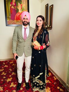 Desi Wedding, Punjabi Wedding, Beautiful Suit, Beautiful Couple, Sweet Couples, Cute Couples, Cute Couple Images, Punjabi Couple, Punjabi Quotes