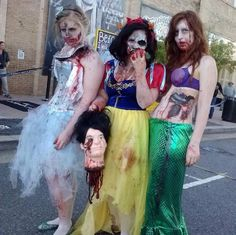 Everyone loves the Disney Princesses and with zombies popularity growing, it's no surprise that Zombie Disney Princesses is the top costumes this year.