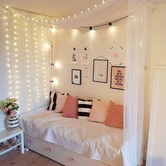 clic de ideias: {decorando nossos quartos com luzinhas} vem decora...
